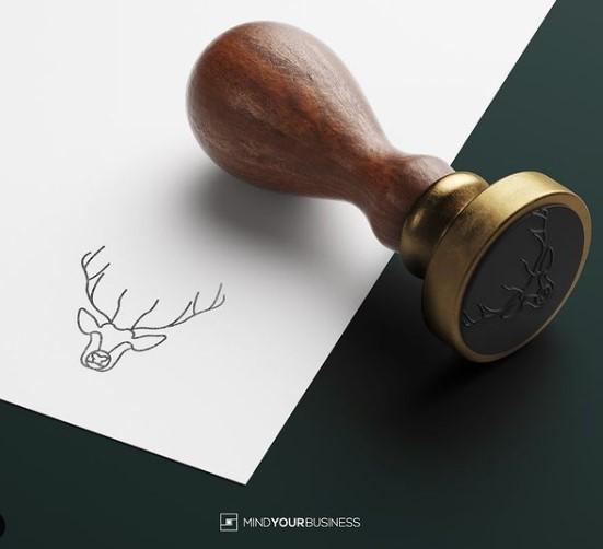 Le nouveau logo créé par Laetitia de Mind Your Business : une tête de cerf