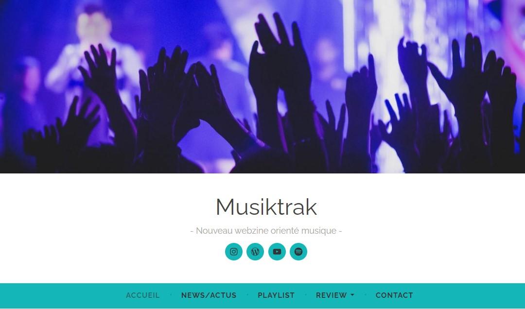 Le design du blog Musiktrak créé par Mathilde est dans l'esprit de sa page Insta